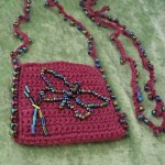 Crocheted Amulet Pouch with Butterfly